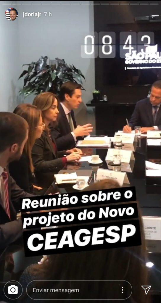Ex-prefeito de São Paulo e atual governador do Estado, João Doria posta vários Stories todos os dias, com trechos curtos ou até boomerangs de suas agendas para informar o público